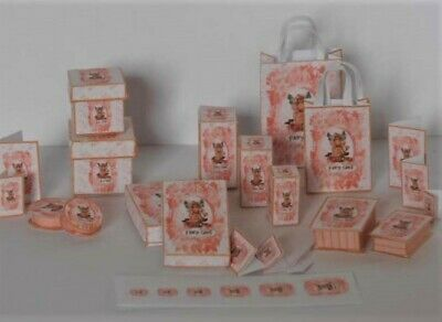 Dolls House miniature 1/12th printie KIT - Fairy Glen Gift Bags & boxes