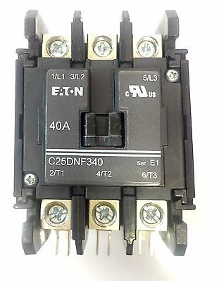 Eaton C25DNY133 Definite Purpose Contactor Series E1 3 Poles 40Amps
