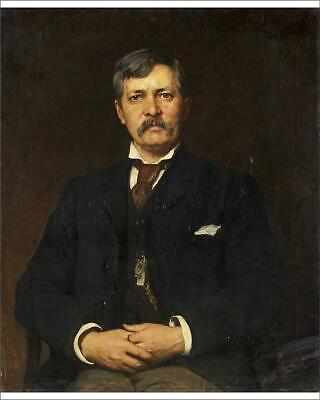 """10""""x8"""" (25x20cm) Print of Sir Henry Stanley, 1886-87 (oil on canvas)"""