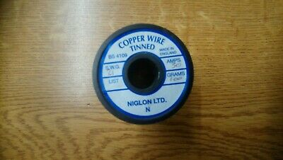 Niglon 30 Amp Tinned Copper Fuse Wire 100g SWG 21