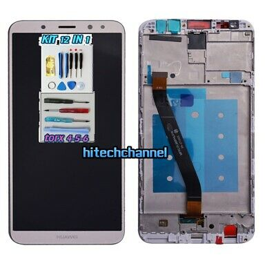 TOUCH SCREEN LCD DISPLAY FRAME GOLD ORO HUAWEI MATE 10 LITE RNE-L21 L01 +kit