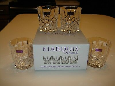 Marquis by Waterford #165118 Markham Double Old Fashiond Glasses set of 4 NIB