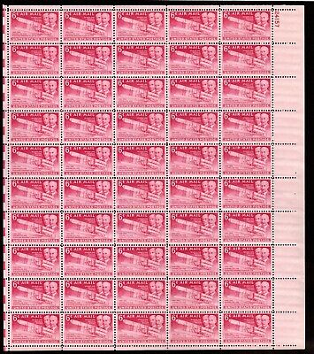 US Airmail Sheet: C45 ( Wright Brothers issue 1949) Full sheet 50 Mint, NH