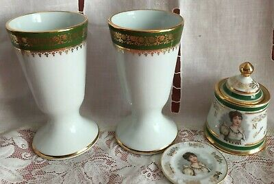 Mazagrans Porcelaine Limoges Pot A Condiment Napoleon Josephine Decor Empire