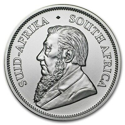 2018 SOUTH AFRICA KRUGERRAND 1 OZ .999 FINE SILVER COIN BU  ~~ from mint tube