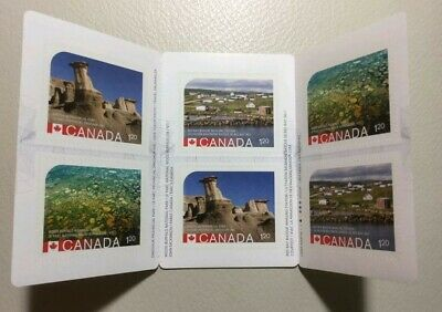 ERROR Canada 2015 UNESCO World Heritage Sites Dinosaur Park 6 Stamps Booklet MNH
