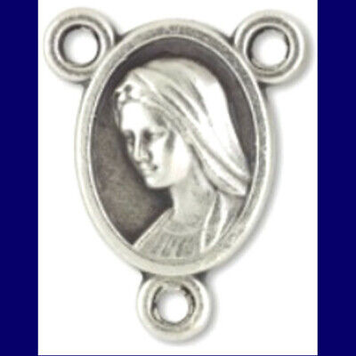 Divine Mercy Our Lady of Medjugorje Oval Rosary Centerpiece Italy Jesus Center