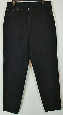 265e4d8c928 Vintage Levis Womens Jeans Size 14 Slim Fit Tapered Leg 512 Black Mom High  Waist