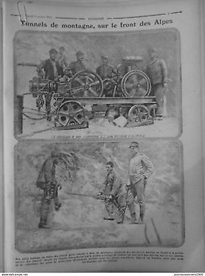 1915 E10 Tunnels Of Mountain Front Alpes Machine Air Compressed Engine