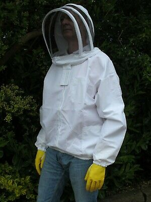 PREMIUM QUALITY Bee Jacket, Fencing Veil - White. All Sizes