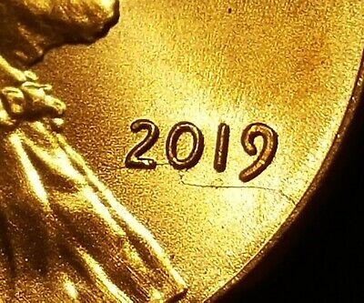 2019-P Lincoln Shield Cent ~ GEM BU ~ OBVERSE DIE BREAK ERROR