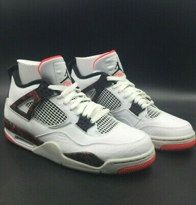 7990d2ca4f7 Air Jordan Retro 4 IV Men's Sneakers Bright Crimson / White / Black (308497-