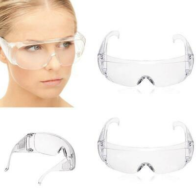Clear Vented Safety Goggles Eye Protection Protective Lab Anti-Fog Glasses New