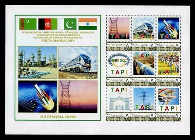 Estampillas postales TAPI (Turkmenistán a India) Pipeline Infrastructure Project