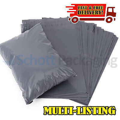 "9 x 12"" Grey Mailing Bags Strong Parcel Postage Plastic Poly Self Seal Mailers"