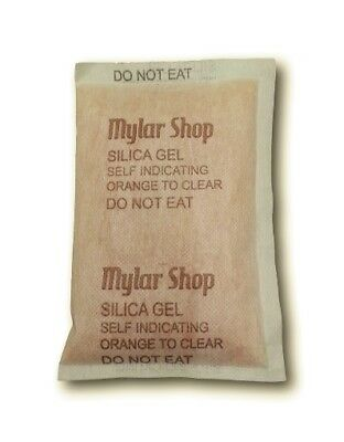 50 x 100g self-indicating silica gel desiccant sachets remove moisture, reusable