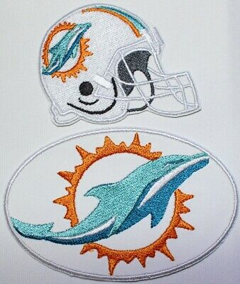 more photos 095b5 9989d NFL Miami Dolphins 2019 Embroidered Iron-on Patch FREE SHIPPING-US Made