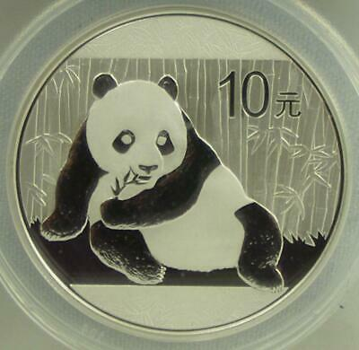 2015  10 Yuan 1oz Silver China Panda First Day of Issue ANACS MS 70 #437 of 500
