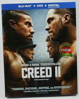 Creed II Blu-Ray + DVD + Digital BRAND NEW Slipcover Michael B. Jordan Stallone