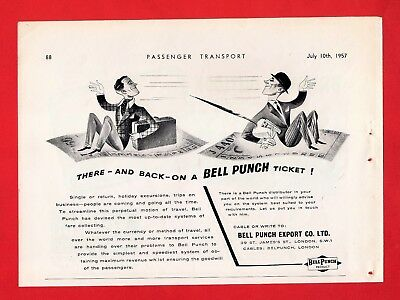 Old Bus Magazine Advert ~ Bell Punch Export Co - There & Back on a Ticket - 1957