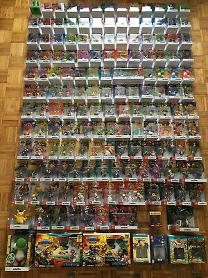 Lot of 171 new mint Nintendo AMIIBO / games full set. North American version NIB