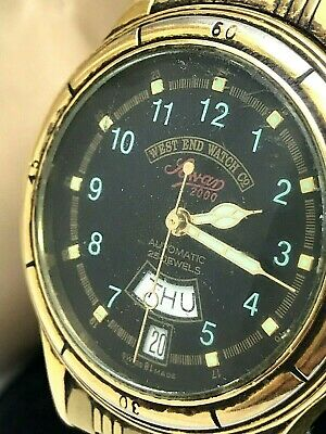 West End Watch CO. Sowan 2000 Swiss Automatic Vintage Men's Watch Gold Tone USED
