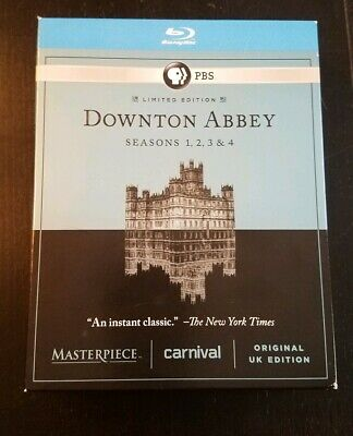 Masterpiece: Downton Abbey - Seasons 1-4 (Blu-ray Disc, 2014, 11-Disc Set)