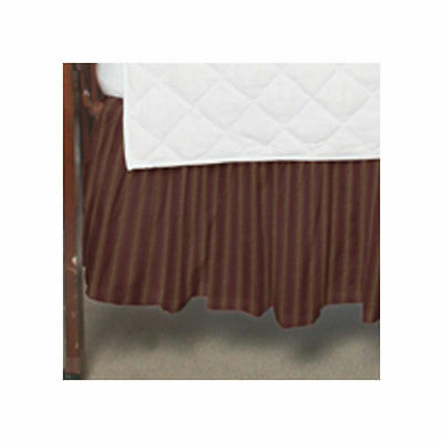 Patch Magic Deep Red with Tan Striped Crib Dust Ruffle (WR18)