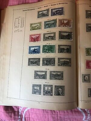 Antique Postage Stamp Pages Bosnia, Brunswick 1865  16 Stamps Hinged