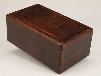 Rare Chinese Wood Unique Handmade Tea Box Home Decoration Collection