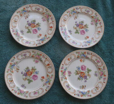 set of 4 Noritake China 4 Dresalda #4727 B & B Plate 6 5/8""