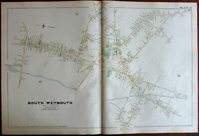 South Weymouth Norfolk County Massachusetts 1888 large detailed map