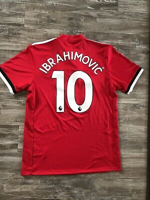 competitive price fafe9 507b0 ZLATAN IBRAHIMOVIC MANCHESTER United Jersey #10 Mens Medium 2017/18