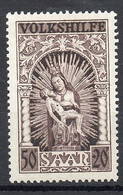 GERMANY SAAR 1949 NATIONAL RELIEF FUND 50f + 20f SG 285 UNMOUNTED MINT
