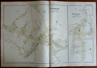 Randolph North Main St. Holbrook Norfolk County Massachusetts 1888 detailed map