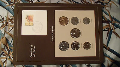 Coin Sets of All Nations New Caledonia w//Card 1983-1987 UNC 100 Francs 1984