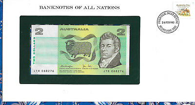 Banknotes of All Nations Australia 2 Dollars 1979 P43c UNC Knight/Stone JTR