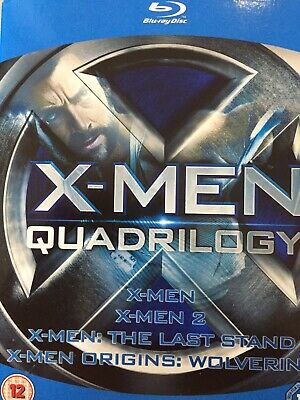 X-MEN QUADRILOGY 4 Movie Collection - 4 x Disc BLURAY Box Set AS NEW!