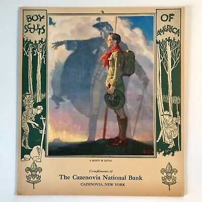 Vintage Boy Scout Record Book - c.1930s, Norman Rockwell Illustration,Unused