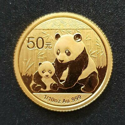 1/10oz Gold Coin proof China 50 Yuan Lucky Panda 2012