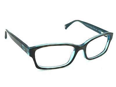 549329312905 Coach HC 6040 Brooklyn 5116 Dark Tortoise/Teal Women Eyeglasses Frames  52-16 135