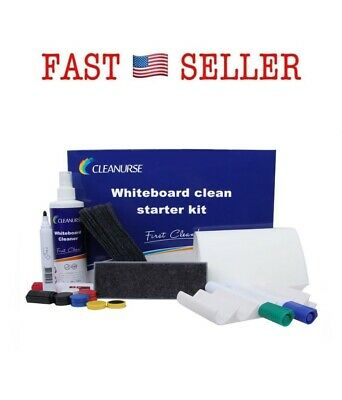 Cleanurse Whiteboard Cleaner Dry-Erase Markers Accessory Kit with Eraser Refill