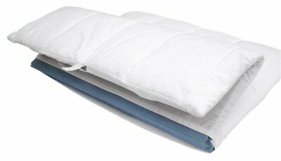 Junippers Padded Fitted Sheet for Travel / Porta Cot  -  White