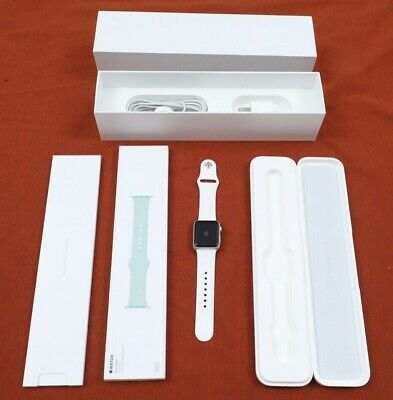 Apple Watch Sport 38mm Aluminum Case White Sport Band - (MJ2T2LL/A)