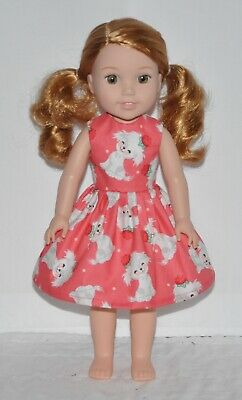 Cute Puppy Doll Dress Clothes Fits American Girl Wellie Wisher Dolls