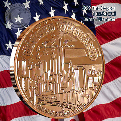 """""""Freedom Tower"""" 1 oz .999 Copper Round Limited & Rare No longer in Mint"""