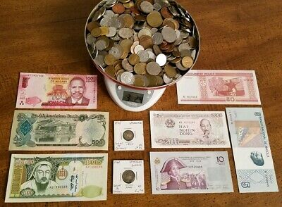 Large Junk Drawer Lot! World Coins & Banknotes - Some Silver - No Reserve!!!