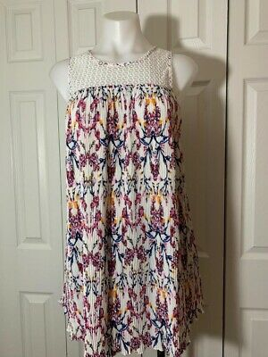 c7af108033c5f A-23 SIREN LILY Small Maternity Women's New W/Tags Floral/Lace Sleeveless