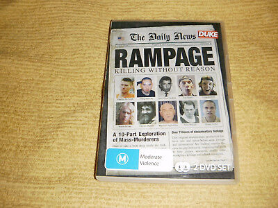 rare oop RAMPAGE KILLING WITHOUT REASON =2 DVD Exploration Of Mass Murderers R4
