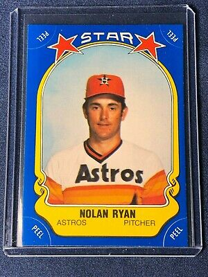 1981 Fleer Nolan Ryan Star Sticker Baseball Card 108 Houston Astros Mtnrmt Hof
